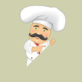 Vector Chef Cook Serving Food Realistic Cartoon Character Design Isolated Vector Illustrator. Chef Cook Serving Food Realistic Cartoon Character Design Isolated Stock Images