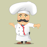 Vector Chef Cook Serving Food Realistic Cartoon Character Design Isolated Vector Illustrator. Chef Cook Serving Food Realistic Cartoon Character Design Isolated Stock Photography
