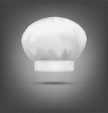 Vector chef hat isolated on a gray background Royalty Free Stock Image