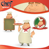 Vector Chef - Italian restaurant Royalty Free Stock Photos