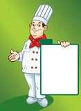 Vector. Chef with menu Royalty Free Stock Images
