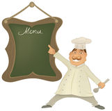 Vector Chef with menu illustration Royalty Free Stock Image