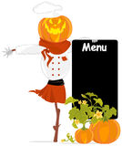 Vector chef-scarecrow Royalty Free Stock Image