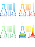 Vector chemical test tubes icons Royalty Free Stock Images