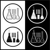 Vector chemische reageerbuizenpictogrammen Royalty-vrije Stock Afbeelding