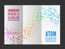 Vector chemistry background Stock Image