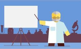 Vector chemistry teacher Stock Image
