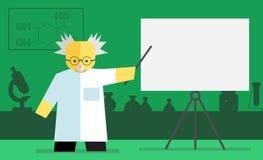 Vector chemistry teacher Royalty Free Stock Photo