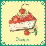 Vector cherry pie. Royalty Free Stock Photo