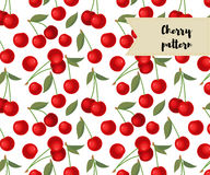Vector cherry seamless pattern. background, pattern, fabric design, wrapping paper, cover. Vector cherry seamless pattern. background, pattern, fabric design Stock Photo