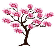 Vector cherry tree Royalty Free Stock Images