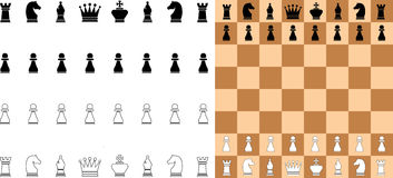 Vector chess Stock Image