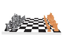 Vector chess board and figures Royalty Free Stock Image