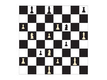 Vector chess board and figures Royalty Free Stock Photo