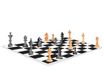 Vector chess board set at the end of game Stock Photos