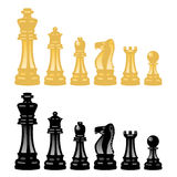 Vector chess pieces. Vector set of chess pieces isolated on white background Royalty Free Stock Photos