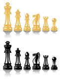 Vector chess pieces. Vector set of chess pieces on white background Stock Photo