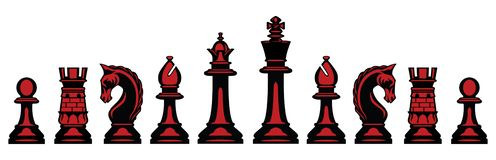 Vector Chess Pieces royalty free illustration