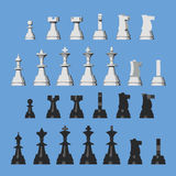 Vector chess pieces from different views Stock Photography