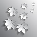 Vector chestnut leaf on a background. EPS Stock Images
