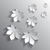 Vector chestnut leaf on a background Stock Images