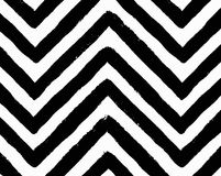 Vector Chevron Black and White Seamless Pattern Stock Photography