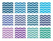 Free Vector Chevron Patterns Set Stock Images - 118636564