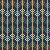 Vector Chevron Woodland Fun Seamless Pattern Background. royalty free illustration