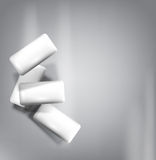 Vector chewing gum isolated on a gray background (imitation 3d) Royalty Free Stock Photos