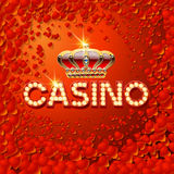 Vector chic emblem for luxury casino with romantic background Royalty Free Stock Images