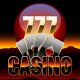 Vector chic emblem for Nevada casino Stock Photo