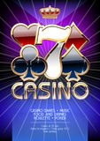 Vector chic party invitation for casino party Royalty Free Stock Images