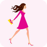 Fashion Illustration of Woman Royalty Free Stock Photography