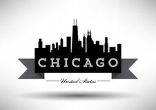 Vector Chicago Skyline Design vector illustration