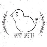 Vector chick easter Royalty Free Stock Photography