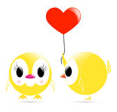Vector chick heart chick Royalty Free Stock Photo