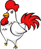 Vector Chicken illustration. Illustration cartoon chicken standing vector file Royalty Free Stock Photography