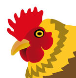 Vector chicken isolated on white background Royalty Free Stock Photos