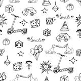 Vector child hand drawn pattern. Stock Images