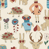 Vector Childish Seamless Pattern Royalty Free Stock Photography