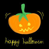 Vector childlike drawing of Halloween pumpkin. Illustration EPS10 Stock Photo