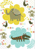 Vector - children card Stock Photography