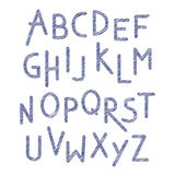 Vector children font. Colorful alphabet. Letters Royalty Free Stock Image
