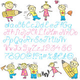 Vector children letters Royalty Free Stock Photography