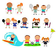 Vector children playing Stock Photo