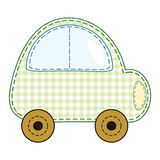 Vector children's green toy car. Stock Photography
