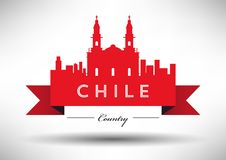 Vector Chile Skyline Design royalty free illustration