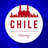 Vector Chile Skyline Design vector illustration