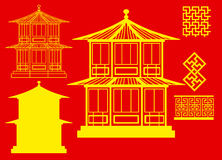 Vector China house 3 Stock Photos