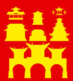 Vector China houses Stock Photo